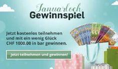 Würdest du gerne zum Jahresbeginn 1'000.- in bar gewinnen?  Dann mach jetzt hier gratis mit: https://www.alle-schweizer-wettbewerbe.ch/chf-1000-in-bar-zu-gewinnen