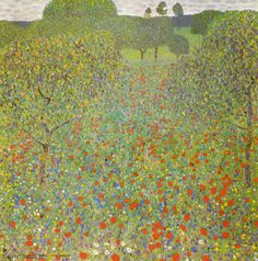 Meadow with Poppies - Klimt