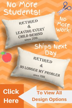 Over 20 designs of retirement gifts for women coworker and teachers. We also have great retirement gifts for coworker or friends. All gifts ship next day. Click picture to view all designs. Personalized Retirement Gifts, Teacher Retirement Gifts, Retirement Gifts For Women, Retirement Parties, Nurse Gifts, Retirement Ideas, Personalized Pillows, Gag Gifts For Women, Gifts For Coworkers