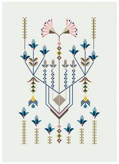 Flower Series, illustration by Carolina Melis - linhas e flores