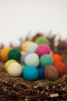 Felt balls 20 25mm Multicolor Mix by HoneyCanada on Etsy