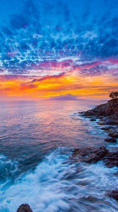 Lahaina sunset, Maui, Hawaii