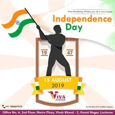 VIVA Marketing wishes you all a very Happy Independence Day. Happy Independence Day, Advertising Agency, Wish, Digital Marketing, Freedom, India, Liberty, Political Freedom, Goa India