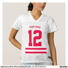 American Rose Personalized Football Team