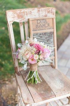 Romantic & Rustic Garden Wedding in California | Confetti Daydreams - Pretty Pastel Bridal Bouquet  ♥  ♥  ♥ LIKE US ON FB: www.facebook.com/confettidaydreams  ♥  ♥  ♥ #Wedding #RealBride #RusticWedding