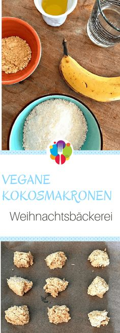 Vegane Kokosmakronen I I Vegane Rezepte I Entdeckt von Vegalife Rocks: www.vegaliferocks.de ✨ I Fleischlos glücklich, fit & Gesund✨ I Follow me for more vegan inspiration @vegaliferocks #vegan #veganerezepte #vegetarisch #veganbacken