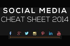 Facebook, Twitter, Instagram, Pinterest - Social Media Image Cheat Sheet 2014 [INFOGRAPHIC]
