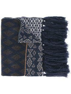ETRO geometric print scarf. #etro #scarf