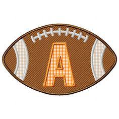 Football Applique Alphabet