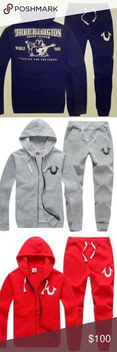True Religion sweat suit Brand new with tags, with various sizes from medium to 3XL , (They fit slim, but not tight) .. the sweater alone is $169.00 on true Religion website.  Will be $120 if you pay through skill , email me for payment directions nygawd@gmail.com True Religion Sweaters Zip Up