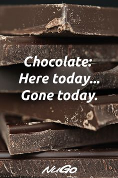 Stock up on real dark chocolate coated NuGo Slim today, so you never run out! Chocolate Lovers Quotes, Chocolate Sayings, Chocolate Humor, Chocolate Work, Chocolate Party, Chocolate Coating, Chocolate Coffee, How To Make Chocolate, Sarcastic Humor