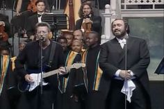 Video: Eric Clapton Sings Song He Wrote for Blessed Mother with Pavarotti Clapton's lyrics reflect a conversion experience he had in rehab years ago