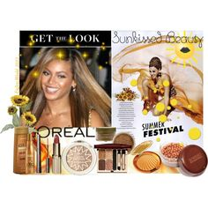 """""""Get the Look: Sunkissed Beauty Edition - Featuring Beyonce'"""" by enjoyzworld on Polyvore Here's how to get that perfect summer glow! Loreal & Sunkissed have Great Bronzers and eyeshadows that can give you that Great Summer Shimmer!!! Contest by Polyvore"""