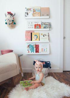 floating shelf book ledge