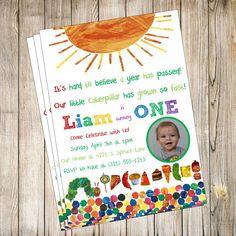 Very Hungry Caterpillar Invitation Template - FREE Printable ...