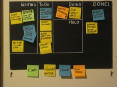 organize with post its