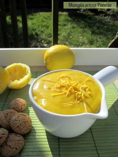 Crema al limone vegan, Mangia senza Pancia ✫♦๏༺✿༻☼๏♥๏花✨✿写☆☀🌸✨🌿✤❀ ‿❀🎄✫🍃🌹🍃❁~⊱✿ღ~❥༺✿༻🌺♛☘‿FR May ♥⛩⚘☮️ ❋ One Pot Vegetarian, Vegetarian Recipes, Raw Food Recipes, Cooking Recipes, Healthy Recipes, Vegan Sweets, Vegan Desserts, Sweet Light, Raw Vegan