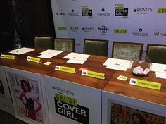 The judges table is set! @reliancetrends @ponds_india @aldo_shoes @jeanclaudebiguineindia @nakshatraworld @hrcindia #GraziaCoverGirlHunt2017  via GRAZIA INDIA MAGAZINE OFFICIAL INSTAGRAM - Fashion Campaigns  Haute Couture  Advertising  Editorial Photography  Magazine Cover Designs  Supermodels  Runway Models