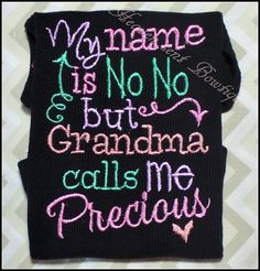 Embroidered girls T shirt, Appliqued baby shirts, Baby girl embroidered shirt, Grandma shi... $24.99