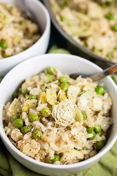 Lemon and Pea Risotto Healthy Side Dishes, Side Dishes Easy, Vegetable Side Dishes, Main Dishes, Chicken Marsala Pasta, Tomato Risotto, Cauliflower Risotto, Healty Dinner, Risotto Recipes