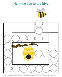Do a Dot Printables: Bugs preschool do a dot printables: letter b mazepreschool do a dot printables: letter b maze Bee Crafts, Preschool Crafts, Crafts For Kids, Preschool Printables, Bee Activities, Spring Activities, Do A Dot, Spring Theme, Letter B