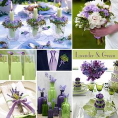Green also pairs well with 'cadbury' purple and lavenders the smell would be great too :)