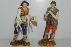 "Nativity Scene Figurines Pesebre Presepio Landi Creche 4.5"" Italian Made Set/2"