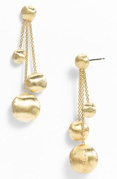 Marco Bicego 'Africa Gold' Triple Drop Earrings available at #Nordstrom