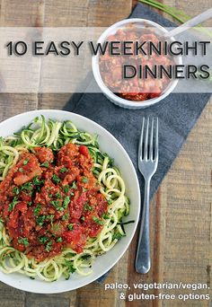 10 Easy Weeknight Dinners - In Sonnets Kitchen