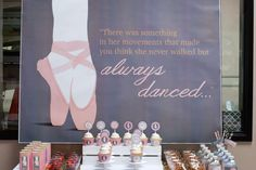 Pretty backdrop at a ballet birthday party! See more party planning ideas at CatchMyParty.com!