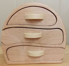 A personal favorite from my Etsy shop https://www.etsy.com/listing/264828997/bandsaw-box-red-maple-and-ash-3-drawer