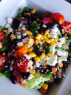 21 Day Fix Roasted Corn and Black Bean Salad (1/2 Yellow, 1/2 Green) // 21 Day Fix // fitness // fitspo // workout // motivation // exercise // Meal Prep // diet // nutrition // Inspiration // fitfood // fitfam // clean eating // recipe // recipes