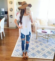 This tee is the PERFECT white tee... Comfortable, long in the back & less…