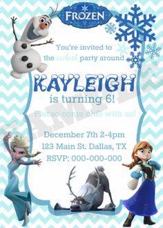 Disney Frozen Princess Birthday Invitation by KaitlinsKardsNMore, $8.00