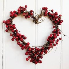 Red berry and twig heart