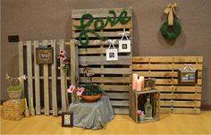 Garden wedding shower - decor/display areas