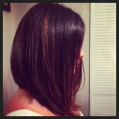long a line bob hair styles | It's all about the angled bob, simple haircut with length and ...