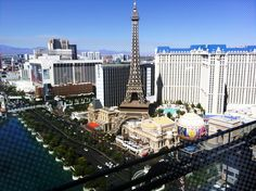 view from our balcony at the Cosmopolitan, Las Vegas