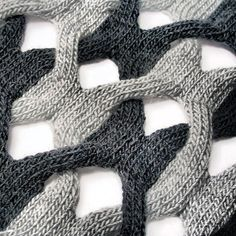 """""""A cheeky peep at the delicious structural knit by Cari+Carl - gorgeous statement scarves & shawls by Cari Morton. Now officially in stock at Snug.""""  Interweave Shawl: http://shop.cariandcarl.com/product/2-by-2-shawl"""