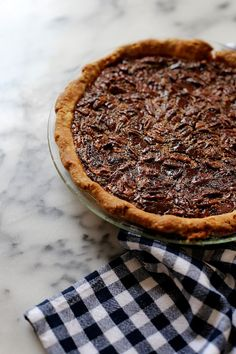 Bourbon Pecan Pie with Dark Chocolate. I need to make just ONE successful Pecan Pie, and I can die happy.