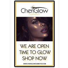 Handmade Cosmetics by Cheri @cheriglow.cosmetics We have officially LAUNCHED! 2/9/17 Time to GLOW  #CheriGlowCosmetics.com #highlighters #makeup #lipsticks #liquidmattes #lipgloss