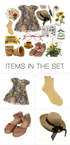 """""""Sun and flowers"""" by braincontortion ❤ liked on Polyvore featuring art"""