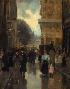 The Spuistraat with a View of the Plein, The Hague by Floris Arntzenius (1864 –1925)