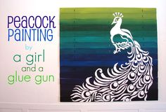 A girl and a glue gun: peacock how to!
