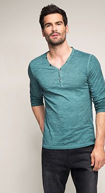 The Esprit Online-Shop offers a large selection of high quality fashions for men, women and children as well as the latest fashion accessories and furnishings. Vintage Jerseys, Polo Shirt, T Shirt, Long Sleeve Tops, Fashion Accessories, Menswear, Mens Fashion, Cotton, Mens Tops