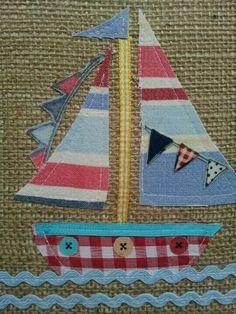 Barco con telas