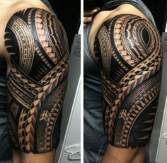 Shoulder tattoo gallery, high quality polynesian designs for Hawaiian Tribal Tattoos, Tribal Tattoos For Men, Tattoos For Guys, Polynesian Tattoo Designs, Maori Tattoo Designs, Shoulder Sleeve Tattoos, Filipino Tattoos, Schulter Tattoo, Samoan Tattoo