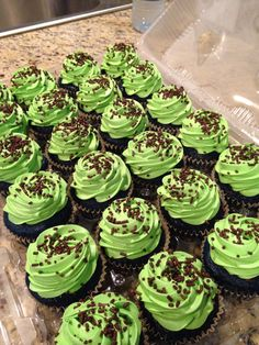 Blue Velvet Cupcakes with Cream Cheese Frosting.
