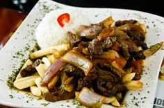 Yummy lomo saltado from Aromas del Peru. Not diet friendly but sinfully delicious!!!!!