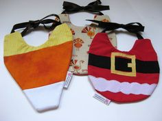 Christmas Baby bibs - Halloween, Christmas, Thanksgiving (3-pack)